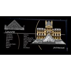 Plaque type UCS Le Louvre...