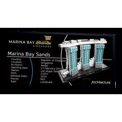 Plaque type UCS Marina Bay...