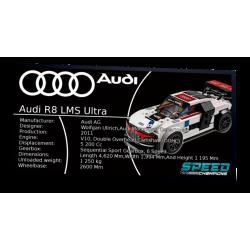 Plaque type UCS Audi R8 LMS...