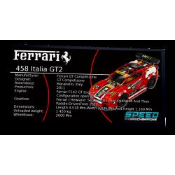 Plaque type UCS Ferrari 458...
