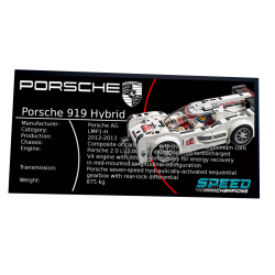 Plaque type UCS Porsche 919...