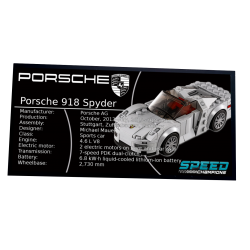 Plaque type UCS Porsche 918...