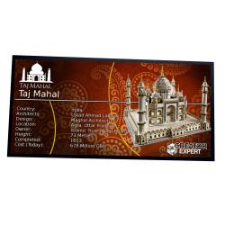Plaque type UCS  Taj Mahal...