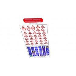 Planche Stickers Panneaux...