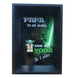 Cadre Fête des Pères Yoda...
