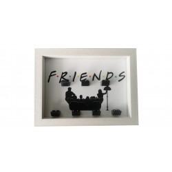 Cadre Friends- Blanc dim...