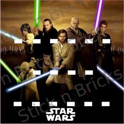 Fond de cadre Star Jedi...