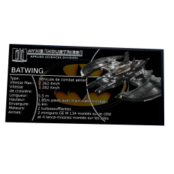 Plaque Type UCS Batwing...