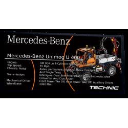 Plaque type UCS Unimog u400...