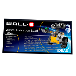 Plaque type UCS Wall-e réf...