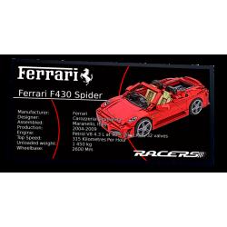 Plaque type UCS Ferrari 430...