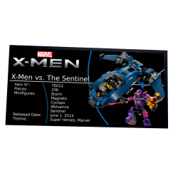 Plaque type UCS X-Men The...