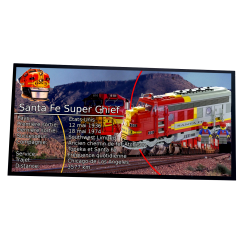 Plaque type UCS Train Santa...