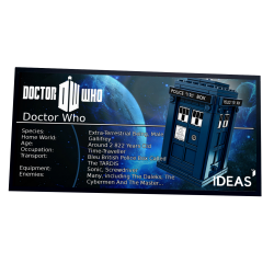 Plaque type UCS Doctor Who...