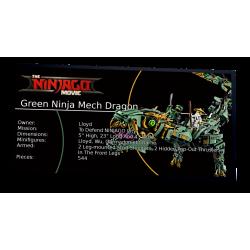 Plaque type UCS Green Ninja...