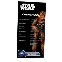 Plaque type UCS Chewbacca...