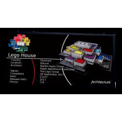 Plaque type UCS LEGO House...